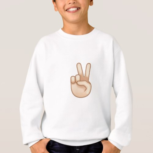 Victory Hand Emoji Sweatshirt for Kids