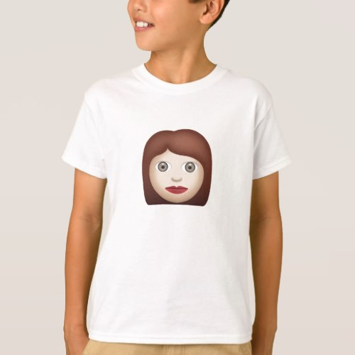 Woman Emoji T-Shirt for Kids