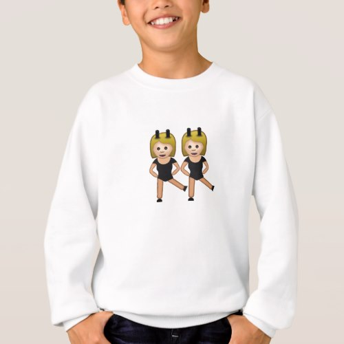 Woman With Bunny Ears Emoji Sweatshirt for Kids
