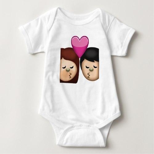 Kiss Emoji Baby Bodysuit