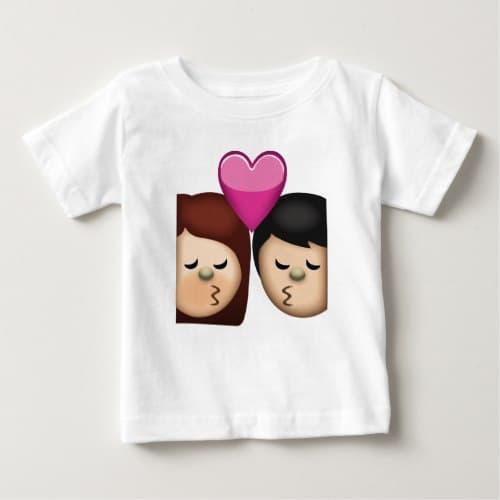 Kiss Emoji Baby T-Shirt