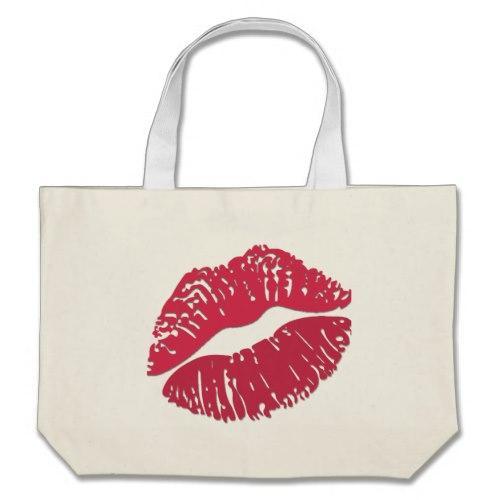 Kiss Mark Emoji Large Tote Bag