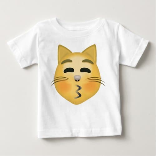 Kissing Cat Face With Closed Eyes Emoji Baby T-Shirt