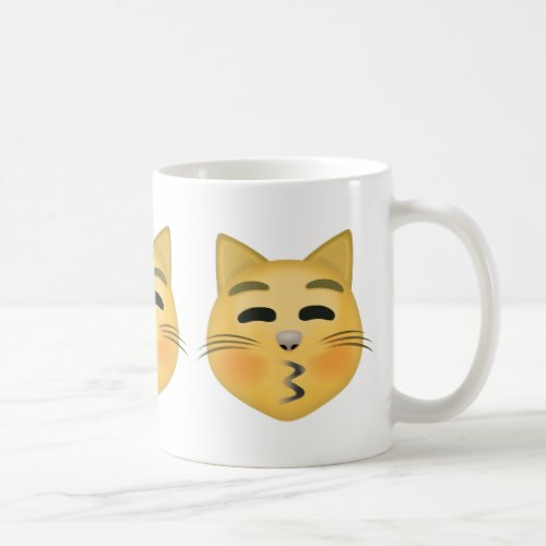 Kissing Cat Face With Closed Eyes Emoji Coffee Mug
