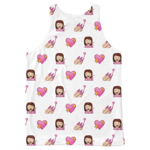 Looking Fabulous Emoji All-Over-Print Tank Top