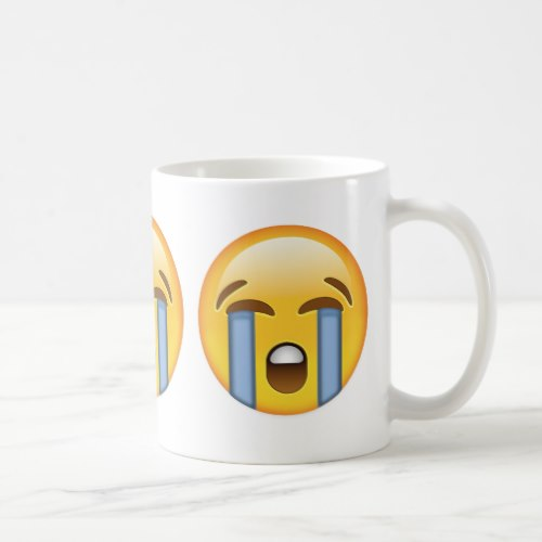 Loudly Crying Face Emoji Coffee Mug