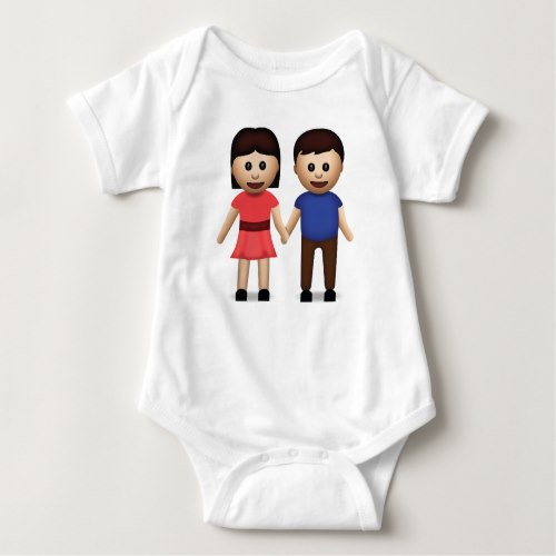 Man And Woman Holding Hands Emoji Baby Bodysuit