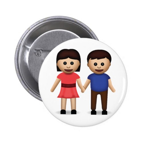 Man And Woman Holding Hands Emoji Button