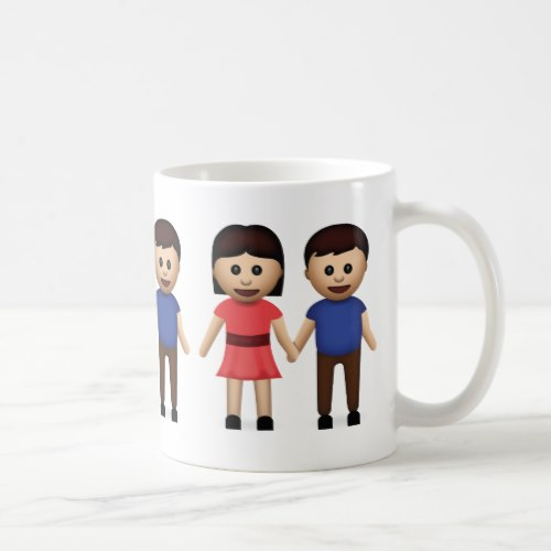 Man And Woman Holding Hands Emoji Coffee Mug