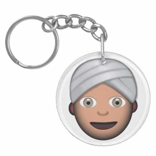 Man With Turban Emoji Keychain