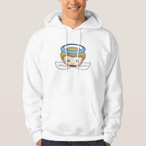 Baby Angel Emoji Hoodie for Men