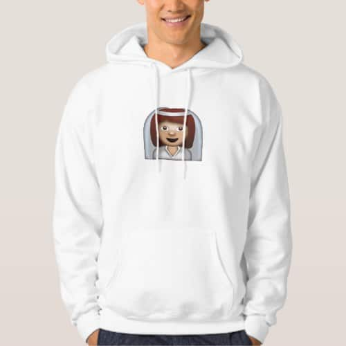 Bride With Veil Emoji Hoodie for Men