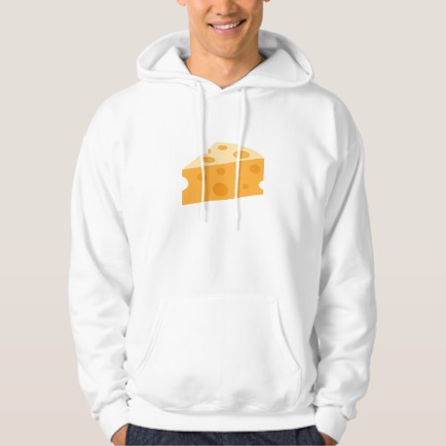 Cheese Wedge Emoji Hoodie for Men