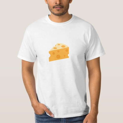 Cheese Wedge Emoji T-Shirt for Men
