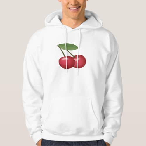 Cherries Emoji Hoodie for Men