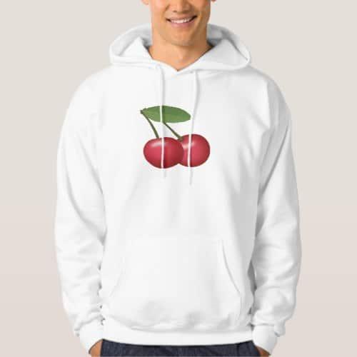 Cherries Emoji Hoodie for Men