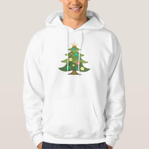 Christmas Tree Emoji Hoodie for Men