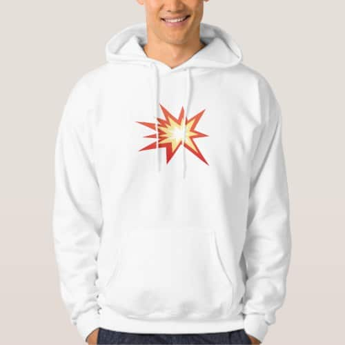 Collision Symbol Emoji Hoodie for Men
