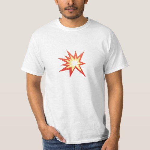 Collision Symbol Emoji T-Shirt for Men