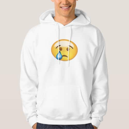 Crying Face Emoji Hoodie for Men