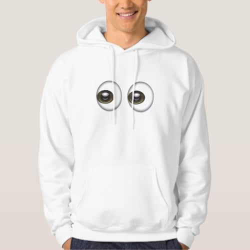 Eyes Emoji Hoodie for Men