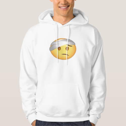 Face With Head-Bandage Emoji Hoodie for Men
