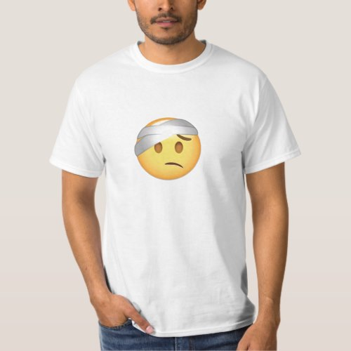 Face With Head-Bandage Emoji T-Shirt for Men