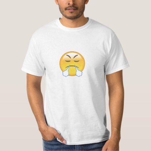 Face With Look Of Triumph Emoji T-Shirt for Men