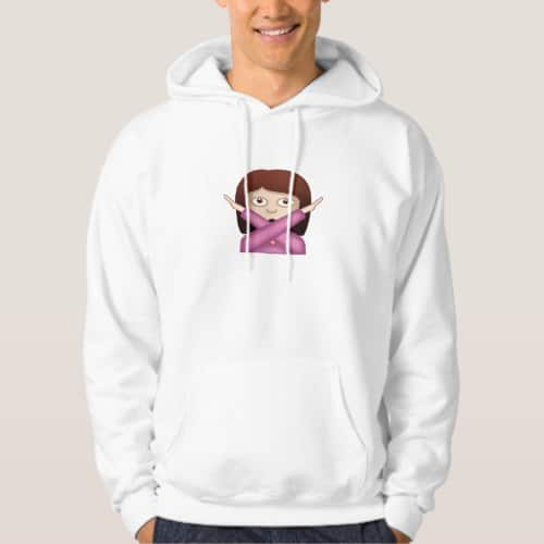 Face With No Good Gesture Emoji Hoodie for Men