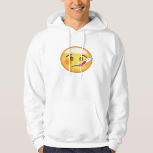 Face With Thermometer Emoji Hoodie for Men