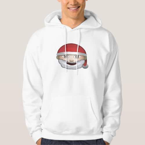 Father Christmas Emoji Hoodie for Men