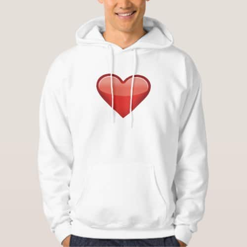 Heavy Black Heart Emoji Hoodie for Men