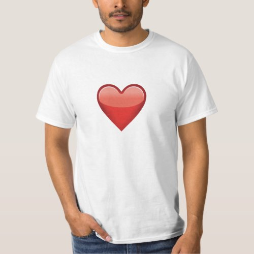 Heavy Black Heart Emoji T-Shirt for Men