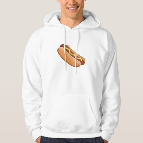 Hot Dog Emoji Hoodie for Men