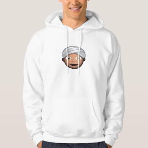 Man With Turban Emoji Hoodie for Men