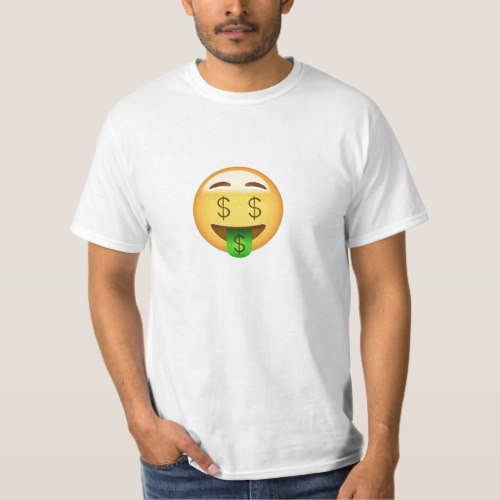 Money-Mouth Face Emoji T-Shirt for Men