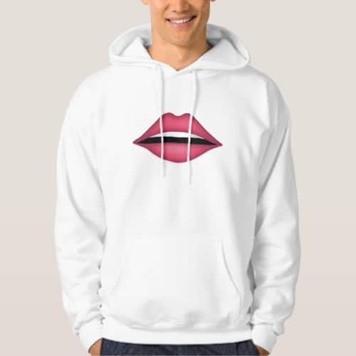 Mouth Emoji Hoodie for Men