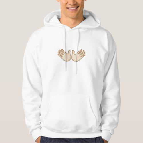 Open Hands Sign Emoji Hoodie for Men