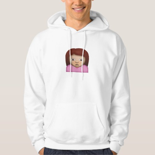 Person Frowning Emoji Hoodie for Men