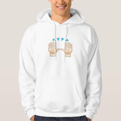 Person Raising Both Hands In Celebration Emoji Hoodie for Men