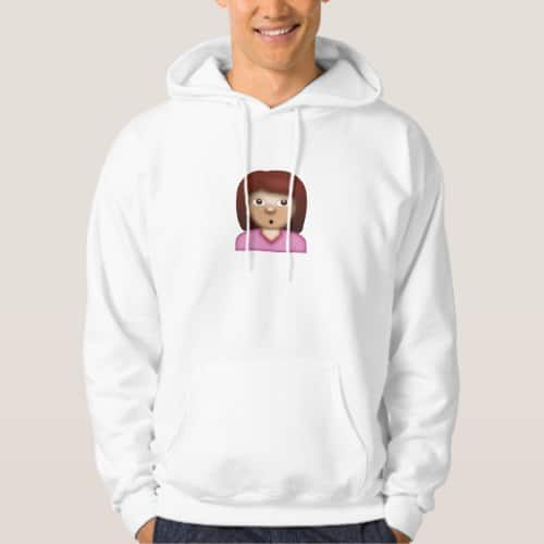 Person with Pouting Face Emoji Hoodie for Men