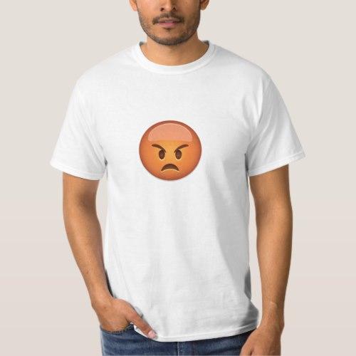 Pouting Face Emoji T-Shirt for Men