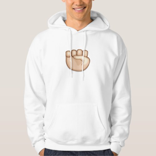 Raised Fist Emoji Hoodie for Men