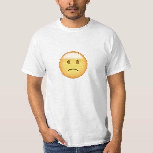 Slightly Frowning Face Emoji T-Shirt for Men