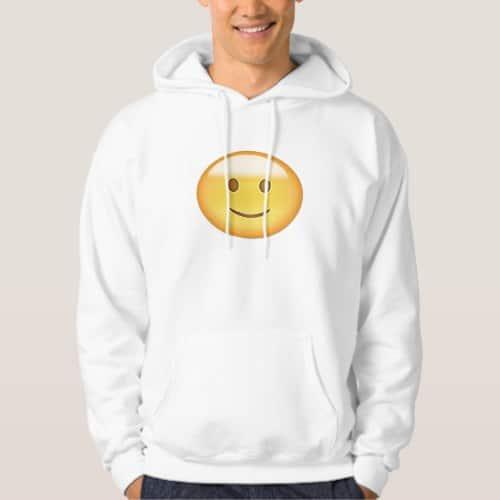 Slightly Smiling Face Emoji Hoodie for Men