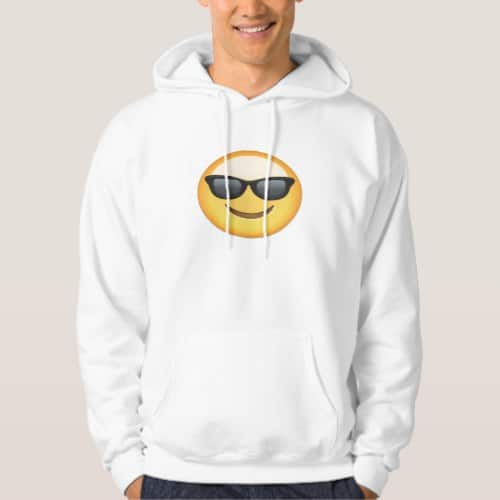 Smiling Face With Sunglasses Emoji Hoodie for Men