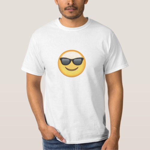 Smiling Face With Sunglasses Emoji T-Shirt for Men