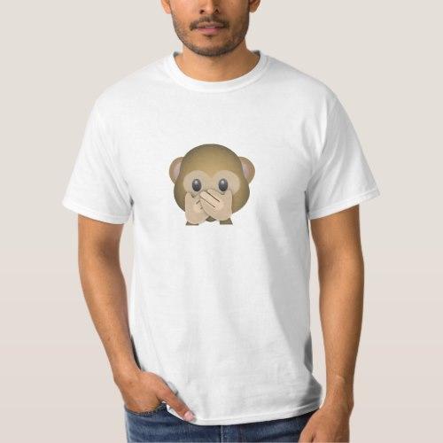 Speak No Evil Emoji T-Shirt for Men