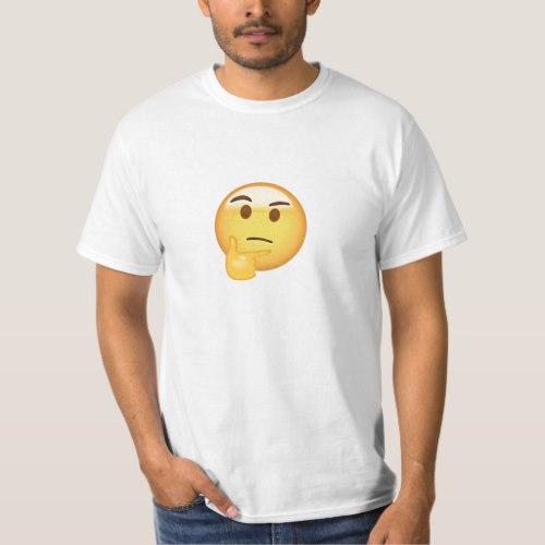 Thinking Face Emoji T-Shirt for Men