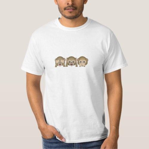 Three Wise Monkeys Emoji T-Shirt for Men